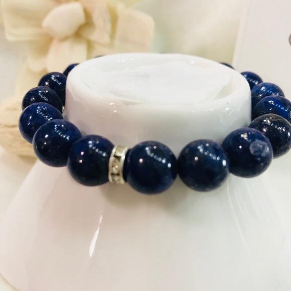 656435f4b1185 Men's Gemstone Blue Lapis Lazuli bracelet Boutique